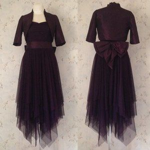 Plum Evening Dress with Matching Bolero